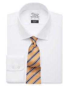 Мужская рубашка белая T.M.Lewin не мнущаяся Non Iron приталенная Slim Fit (56823)