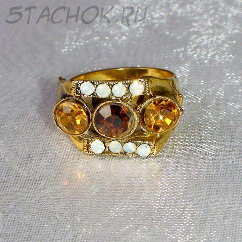 Кольцо в арабском стиле под золото