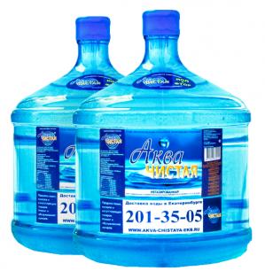 "Вода ""Аква чистая"" 2 бутыли по 12л."