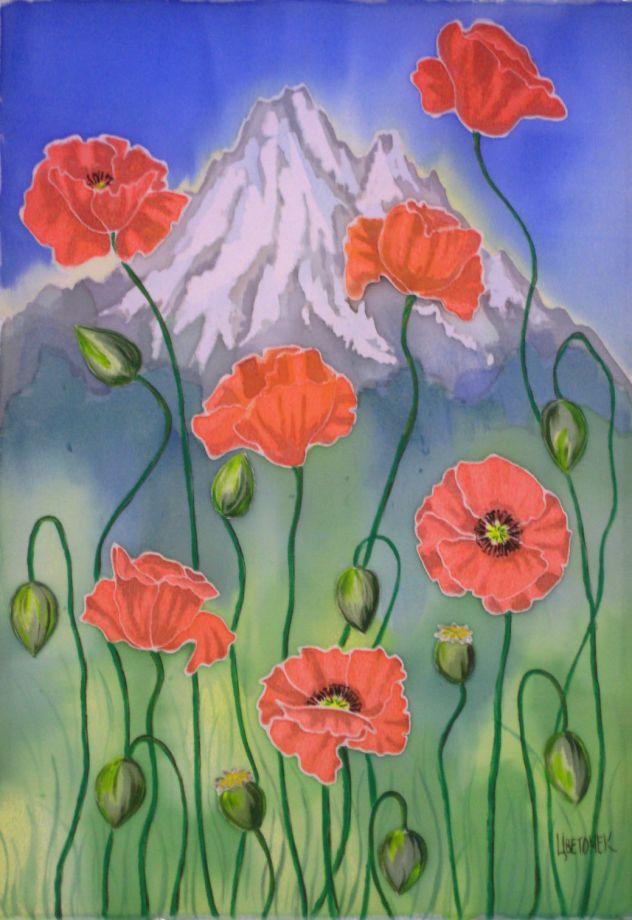 Картина Маки и горы