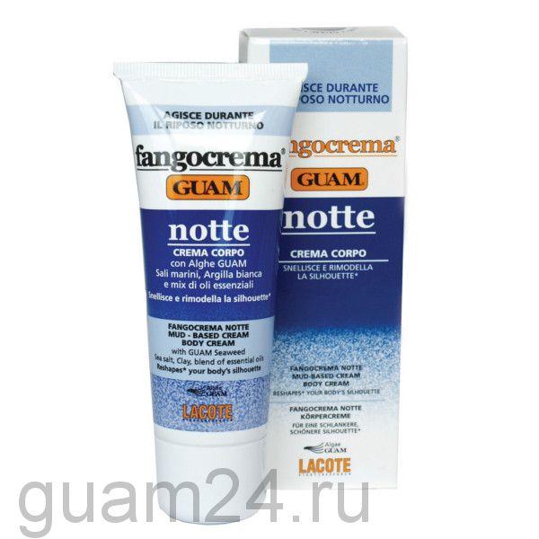 GUAM  Крем ночной с разогревающим эффектом на основе грязи FANGOCREMA, 75 мл. код (0775)