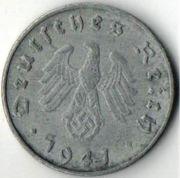 10 рейхспфеннигов. 1941 год. A. Третий Рейх.