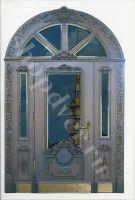 металлическая дверь  филенчатая