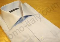 (арт.282R) Рубашка голубая с кармашком