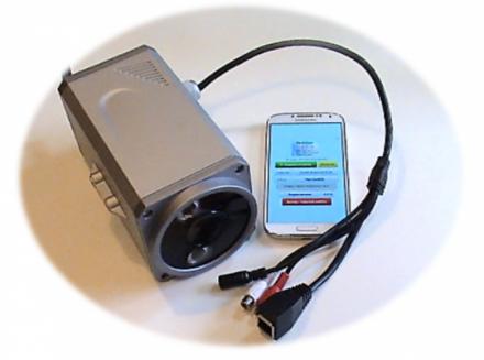 IP камера подключается к смартфону через Wi-Fi