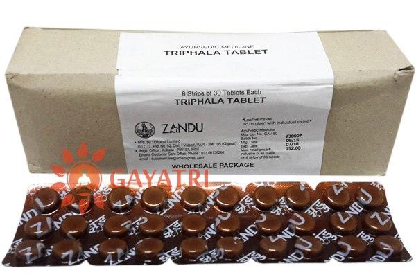"""Препарат """"Трифала"""", 30 таб.Производитель """"Занду""""/Triphala, 30 tab/Zandu/ 245/"""