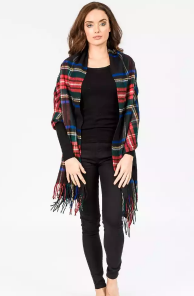 Роскошная классическая шотландская  шаль, высокая плотность, 100 % драгоценный кашемир ,  Тартан Стюарт Чёрный вариант (премиум)