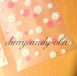 "Пакет прозрачный ""Цветы"", 8*10 +3  см., 10 шт."