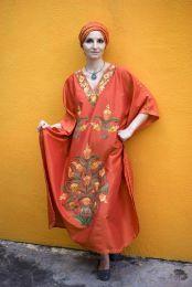 Домашнее шелковое платье оранжевого цвета (Москва)