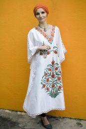 Шелковое платье оверсайз белого цвета (Москва)