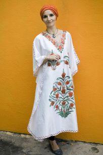 Шелковое платье белого цвета (Москва)