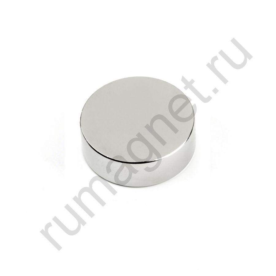 Неодимовый магнит диск 30x10 мм