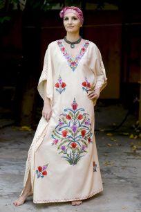 Кремовое платье из натурального хлопка (Москва)
