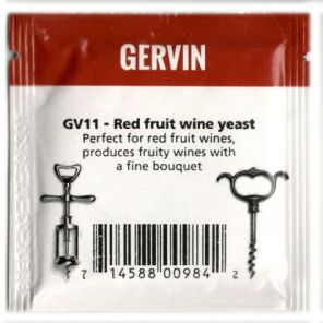 Винные дрожжи Gervin GV11 Red Fruit Wine NEW