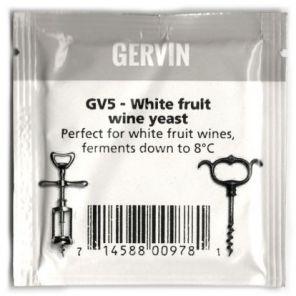 Винные дрожжи Gervin GV5 White Fruit Wine NEW  поступлениев наличии