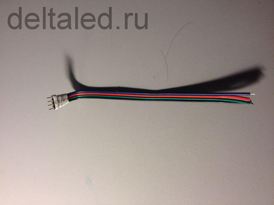 """Коннектор """"папа"""" 4х-пиновый для контроллеров светодинамики светодиодов"""