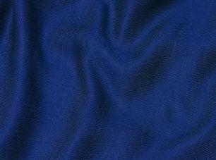 Синий шёлковый шарф, шелк + шерсть (под заказ)