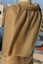 Песочный палантин из шерсти с кашемиром (под заказ)