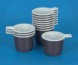 Чашка кофейная коричнево-белая 200 мл (50/1000)