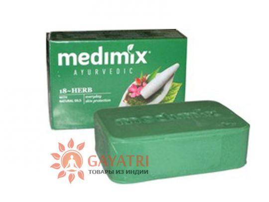 """Лечебно-профилактическое мыло """"Медимикс 18 трав"""", 125 г. Производитель Медимикс/soap Medimix 18-herb aurveda, 125 g/Medimix"""