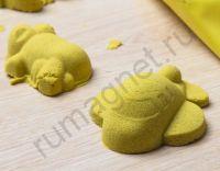 Купить кинетический песок жёлтого цвета