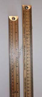 Метр деревянный с градацией в сантиметрах и дюймах Hemline