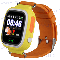 Детские часы Smart Baby Watch Q80 Yellow