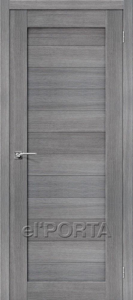 Межкомнатная дверь ПОРТА X-21 Grey Veralingа