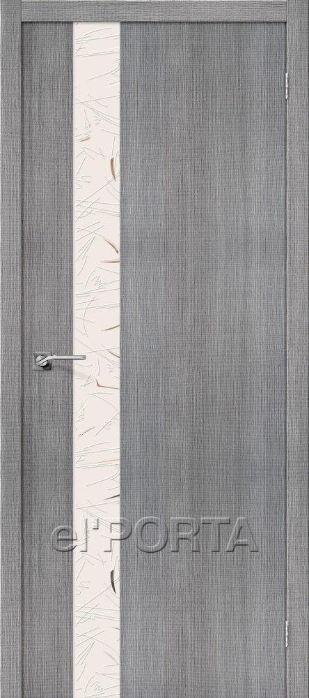Межкомнатная дверь ПОРТА Z-51 Grey Crosscut