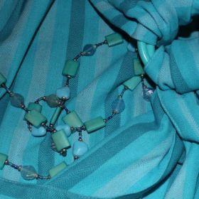 Эргономичный рюкзак из шарфовой ткани Аква