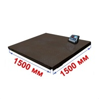 Весы платформенные МИДЛ МП 600 ВЕДА Ф-1 (100/200; 1500х1500) «Циклоп 12»