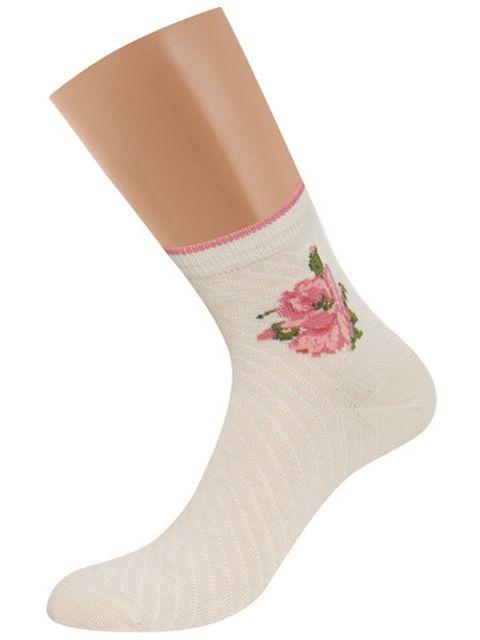 Носки женские D252 цветы винтажные Griff