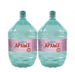 Вода Архыз 2 бутыли по 19 литров, пэт.