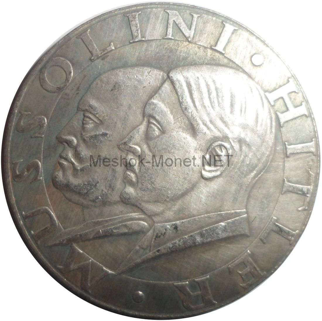 Копия медаль 1938 года Муссолини Гитлер
