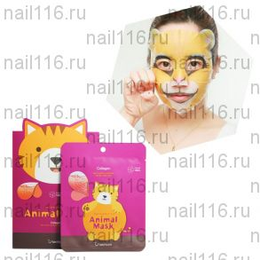 БР Animal Маска тканевая с морским коллагеном  Animal mask series - Cat