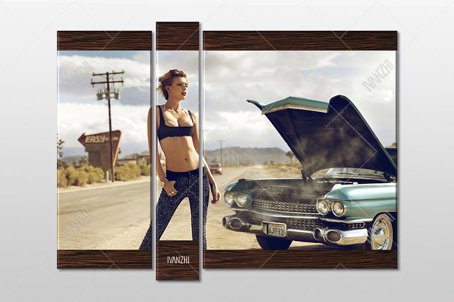 Девушка и Cadillac Eldorado 1959