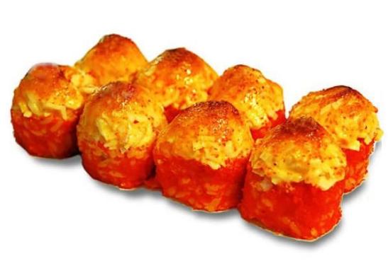Ролл «Запеченный  с  крабом и креветками»