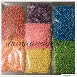 Посыпка шарики перламутровые,  цветные (4 мм)