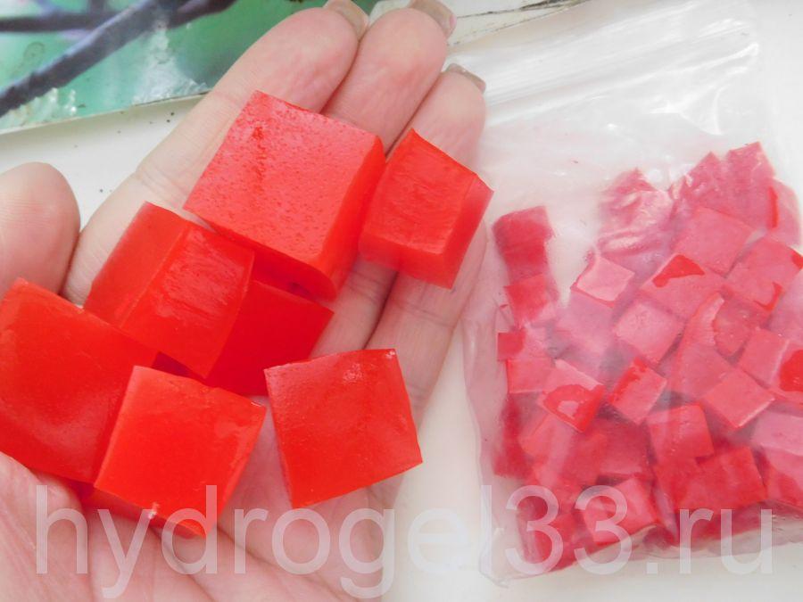 Гидрогель кубики красные (120 шт)