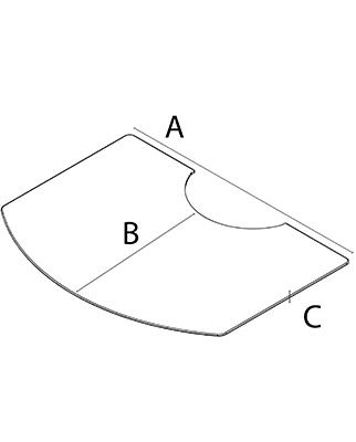 Напольный металлический лист для отопительных печей WIKING серия Luma