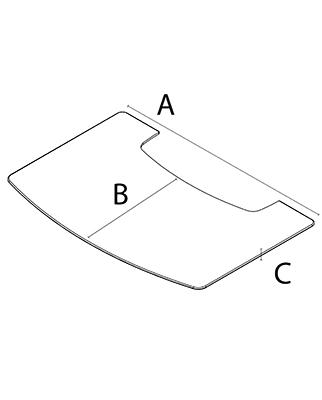 Напольный металлический лист для отопительных печей WIKING серия Miro, размер маленький