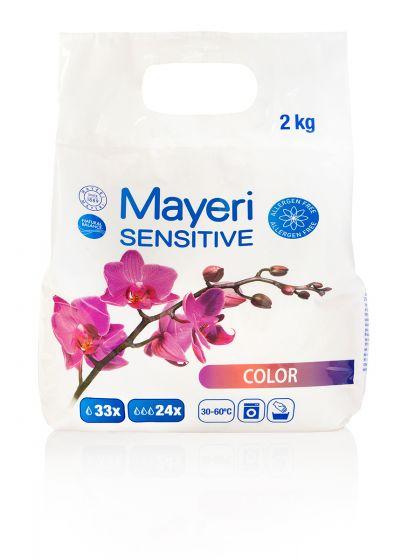Стиральный порошок для стирки цветного. Гиполлергенный. Mayeri Color Sensitive 2 кг