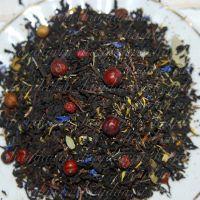 черный чай с ягодами