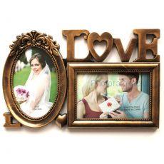 Мультирамка Love на 2 фото 588-5 (2 цвета)