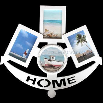 Рамка Home на 4 фото F31( цвет: белый)