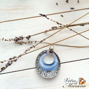 VB02-p Подвеска с серебром  муранское стекло