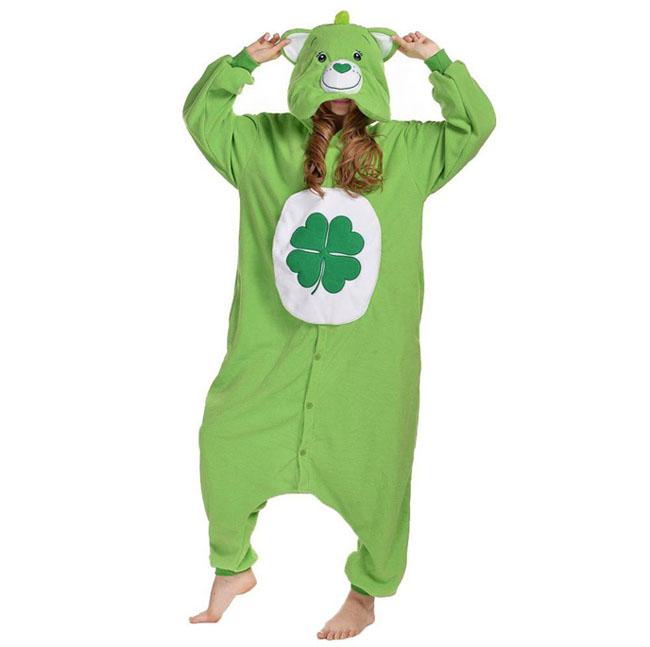 Пижама Кигуруми Медведь Зеленый Премиум