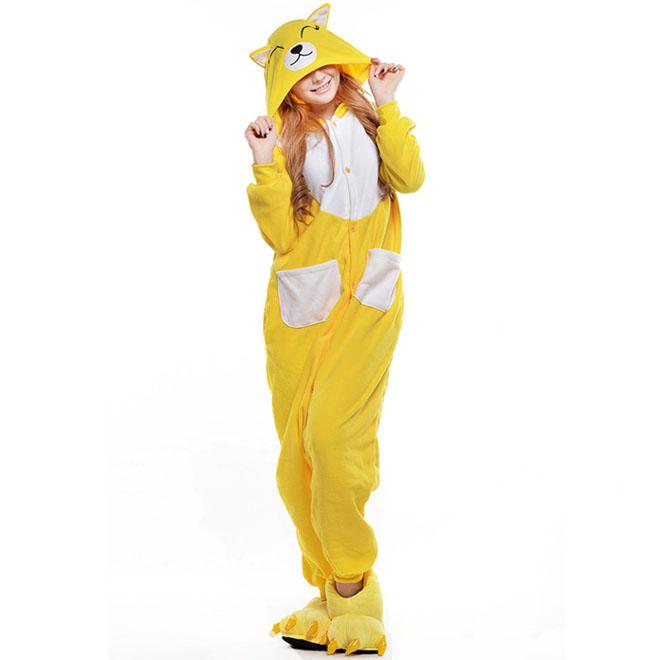 Пижама Кигуруми Лиса Желтая Премиум