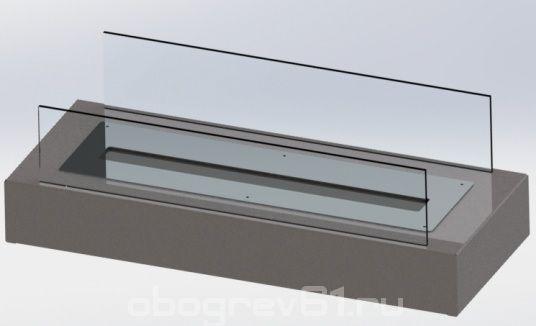 Биокамин Glass grey