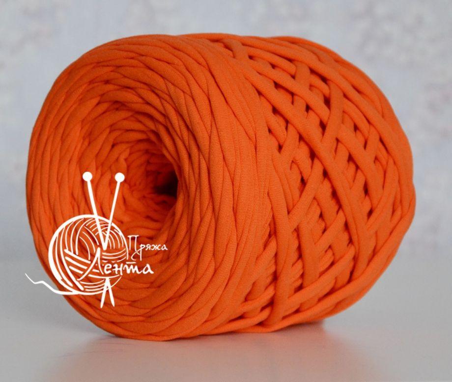 Пряжа Лента. Цвет Оранжевый